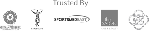 Trusted by Northants, Harlequins, the Salon Hair and Beauty, SportsMedEast & more